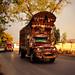 Pakistani style decorative truck running on Karakoram Highway, Pakistan パキスタン、カラコルム・ハイウェイを走るデコトラ