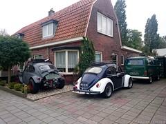 Volkswagen Kever 1971 (96-55-PN) 1967 (AH-51-91) & Volkswagen T2 camper 1972 (82-TF-86) (MilanWH) Tags: volkswagen kever 1971 beetle transporter coccinelle 9655pn 1967 ah5191 t2 camper 1972 82tf86