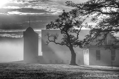 DH Day Farm ... shades of sunrise (Ken Scott) Tags: dhdayfarm fog sunrise bwconversion sunbeam silhouette leelanau michigan usa 2016 september fall autumn 45thparallel fhdr kenscott kenscottphotography kenscottphotographycom freshwater greatlakes lakemichigan sbdnl sleepingbeardunenationallakeshore voted mostbeautifulplaceinamerica