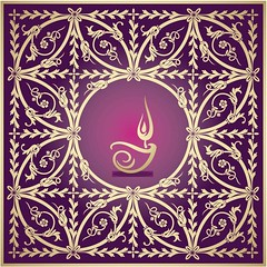Free vector Diwali Glowing diya logo on purple floral background (cgvector) Tags: background banner beautiful culture decoration deepavali deepawali diwali diya festivaloflights greeting happy hindu hinduism holiday india indian invitation oil poster religion