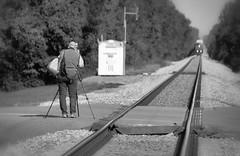 Train Photographer (thepixiesighs) Tags: wwpw2016 photographer tripod train track approaching