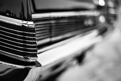 A Shining End (belleshaw) Tags: blackandwhite route66reunion carshow classiccar chrome taillights bumper landyacht reflections detail bokeh