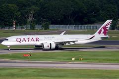 Qatar Airways   Airbus A350-900   A7-ALD   Singapore Changi (Dennis HKG) Tags: qatar qatarairways qr qtr airbus a350 a350900 airbusa350 airbusa350900 aircraft airplane airport plane planespotting singapore changi wsss sin a7ald oneworld canon 7d 100400