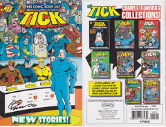 2016PUBLISHED JUNE 2016 BY NEC. THE TICK FREE COMIC BOOK DAY (vsndesigns) Tags: beta the tick vs arthur sentinel prime optimus successor townsend coleman lego minifig minifigure dcon 2014 ball mylar balloon buttons bonanza pencil indie shocker gbjr toys with tie and tshirt zombie in a steel box fox promotional totally kids magazine 45 club spoon taco bell meal commercial eli stone ben edlund little wooden boy comic book merchandise rare limited edition 80s 90s collector museum naked super hero heroine collection photo screen