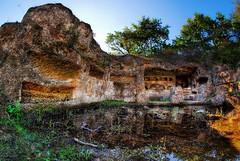 Myth (Rickydavid) Tags: viaamerina tombs tombe sepolcri etruscans romans mirror water specchio acqua reflection riflesso necropolis necropoli cavodeglizucchi
