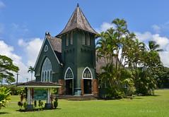 Wai'oli Hui'ia Church (Pink Hibiscus) Tags: waiolihuiiachurch hanalei kauai hawaii nikon d800 fx copyrighted allrightsreserved 2016 pinkhibiscus