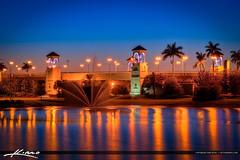 PGA-Boulevard-Bridge-at-Palm-Beach-Gardens-After-Sunset-original (Lang Realty) Tags: bridge captainkimo florida fountain hdrphotography highdynamicrange palmbeachgardens palmtree pgaboulevard pgabridge photomatixpro topazsoftware