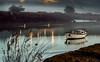 By the river (Explored) (Eduardo Regueiro) Tags: boat bote spain españa betanzos galicia relax tranquilidad sunrise fog niebla sun sol barca