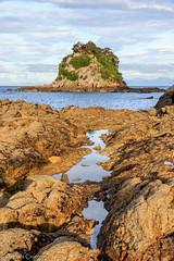 Kaiteriteri Beach (Andrés Guerrero) Tags: new zealand newzealand nuevazelanda abeltasman abeltasmannationalpark parquenacionaldeabeltasman kaiteriteri playa beach sunset atardecer rocas rocks