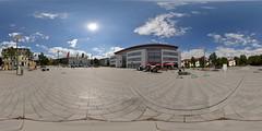 Bahnhof Vorplatz Iserlohn (Devil9797) Tags: equirectangular panorama kugelpanorama bahnhof vorplatz iserlohn hdr sonne wolken clouds sun pflaster