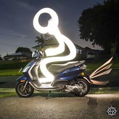 Crazy Scoot (MISHKA Vision - Light Graffer) Tags: australie australia lightpainting lightgraff longexposure expositionlongue nightphotography roadtrip