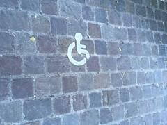 handicap pave (alexandrarougeron) Tags: signalisation signe handicap pave urbain ville