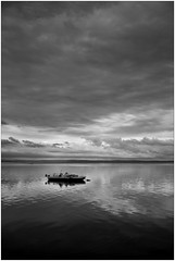Fossalon (M Luca) Tags: fossalon adriatic adriatico sea mare silver argento clouds nuvole monocrome bn bw fuji x100 friuli italia tramonto sunset