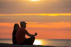 Enjoying a smoke and the Sunset (Infomastern) Tags: skanr cloud hav himmal moln mnniska people sea silhouette siluett sky solnedgng sunset water