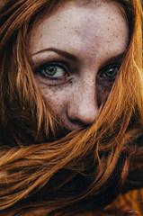 Red Head (Marek Lampart) Tags: redhead portrait people outdoor ostrava colour woman eyes eye nikon nikond5100 nikkor naturallight natural hair 50mm d5100