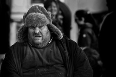 Keeping warm (Frank Fullard) Tags: frankfullard fullard candid street portrait muffler ear earwarmers hot cold cool beard lol fun maam maum maamcross maumcross connemara horse fair galway blustery westerly west