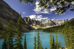 Moraine Lake (3dRabbit) Tags: moraine lake banff national park noon water color foreground sungjinahn canon wideangle tree mountain canada nature