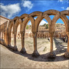 (2409) Arcos de San Juan de Duero (QuimG) Tags: golden soria spain fisheye church art arcosdesanjuandeduero olympus quimg quimgranell joaquimgranell afcastelló specialtouch obresdart arches