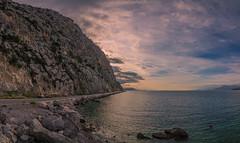 Psatha,Greece (Vagelis Pikoulas) Tags: psatha panorama panoramic view landscape sea seascape sun sunset beach rock rocks october autumn 2016 canon 6d tokina 1628mm greece europe