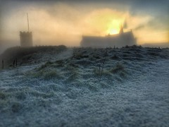 Winter is coming.... (spideysenses77) Tags: europe fleetwood lancashire england rossall morning burst rays ray focus blur bokeh weather school architecture chapel church home field grass nature beautiful beauty sunset sunrise sun winter freezing cold mist fogged foggy fog frosty frosted frost iphoneography phoneshot iphone phone