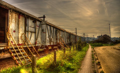 HDR OLD TRAIN  the long way begin here (aminekaytoni) Tags: hdr old train cloud ngc aarschot belgium vlanderen flandres belgique canon 50d   photomatix 17 85mm 17mm lens voyage trip reis canon1885mm 1785mm canon1785mm canon50d