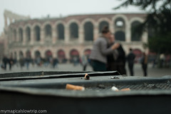 Smoke in Verona (My Magical Slow Trip) Tags: verona city monument history distraction autumn fog