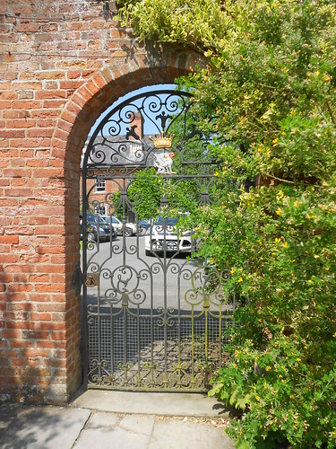Powis Castle. Gate in garden wall.