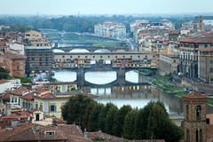 River Arno, Florence (Mikey Down Under) Tags: florence italy firenze tuscany ponte vecchio city view skyline piazzale michelangelo