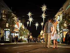 Our stars (tritranla) Tags: losangeles california color holidays night street thegrove