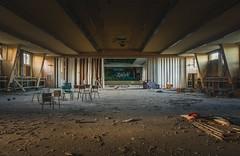 DR Aula (Nils Grudzielski) Tags: lostplaces abandonedplaces urbanexploration verlasseneorte marode urbex ruin rotten decay aula saal indoor trash forgotten