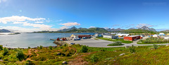 Leknes Panoramic View (Normann Photography) Tags: nordnorge nordland technogarden norge no leknes 11 photos panoramic stiched seascape summer northernnorway arcticnorway visitnorway lofoten