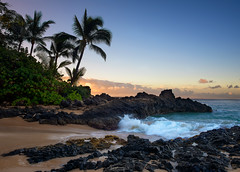 Paradise Found (Todd Hurley Photography) Tags: maui hawaii hi makenacove secluded secretbeach weddingbeach southwestmaui ocean blue palmtree cove sunrise color sand paradise
