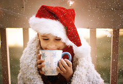 Happy December! (miss.interpretations) Tags: december holiday winter seasonal busy love faith family moments memories inthepresent magic cocoa coffee mug cup littleboy child santa redhat holidaycheer snow snowflakes canonm3 missinterpretations outside outdoors colorado castlerock laughter hands smile