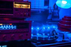Sound and vision (DjD-567) Tags: audio compnents electronics marantz thorens mcs cassette turntable hifi vintage nikon d90 lights lowlight darkness colors blue jvc