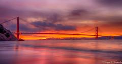 Wake Up, San Francisco! (deepaksviewfinder) Tags: ifttt 500px sunrise kirby cove golden gate bridge gg city san francisco fran morning sun long exposure nd filter fiery sky vibrant colors