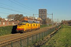 "BRT-91 ""Jules""  als trein 52103 (kevinpiket) Tags: jules brt91 eurailscout gsmr atb meetrijtuig motorpost mp trein meettrein hoekselijn spoorlijn vlaardingen zuidholland nederland canon 60d"