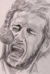 But they should never have taken the very best (Jim_V) Tags: portrait pencil tribute theband dixie lastwaltz levonhelm