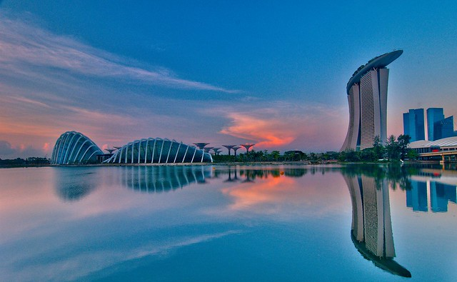 Reflections - Marina Bay,Singapore.