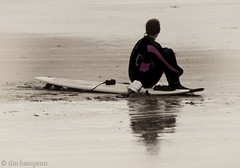 20120407 - board, waiting for the man (keehotee) Tags: surf surfer devon surfers woolacombe