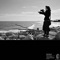 Camilla e il mare (paolo.benetti) Tags: bw nikon italia mare ritratto paesaggio onda d300 rovigo scardovari