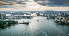 Sydney from Above (Dylan Farrow) Tags: blue sunset landscape harbour air sydney scenic operahouse harbourbridge 2012 pixelpost flickrpost