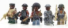 NBA Barf (Silenced_pp7) Tags: brown black brick lego fig head camo barf prototype heads custom nba proto cammo minifigure moc protos brickarms figbarf gibrick