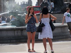 London Tourists (Waterford_Man) Tags: people london photographer candid trafalgarsquare tourist
