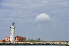 Gorino lighthouse (Ornella D. (ornedra)) Tags: sky italy lighthouse water river faro italia fiume emilia cielo po goro veneto rovigo deltadelpo gorino bacucco isoladellamoreacqua