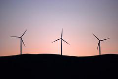 Ridgeline Windmills at Dusk (Sotosoroto) Tags: sunset windmill silhouette oregon washington dusk biggs windturbine maryhill biggsjunction