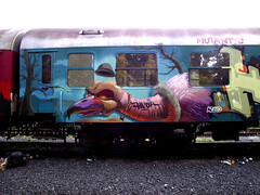 Vulture (Fat Heat .hu) Tags: color train writing graffiti character vulture bratislava goodtimes cfs coloredeffects fatheat