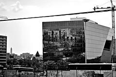 reflections (damonabnormal) Tags: city travel urban blackandwhite bw june washingtondc nikon nikkor f28 2012 thecapitol 1755 urbanite d7000