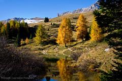 Lago delle Pozze - Passo San Pellegrino (Photoskatto) Tags: sunset mountain alps montagne landscapes tramonto alpi dolomiti dolomiten segantini paledisanmartino enrosadira baitasegantini cimondellapala theauthorsplaza