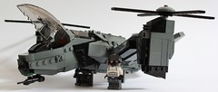 Serpent Gunship Landed (Andreas) Tags: lego aircraft vtol gunship legovtol legogunship vtolgunship thepurgeeu stealthgunship eugunship