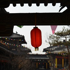 La lanterne - The lantern (Solange B) Tags: china lanterne temple buddhist religion buddhism lantern shanxi chine bouddhisme yungang bouddhiste
